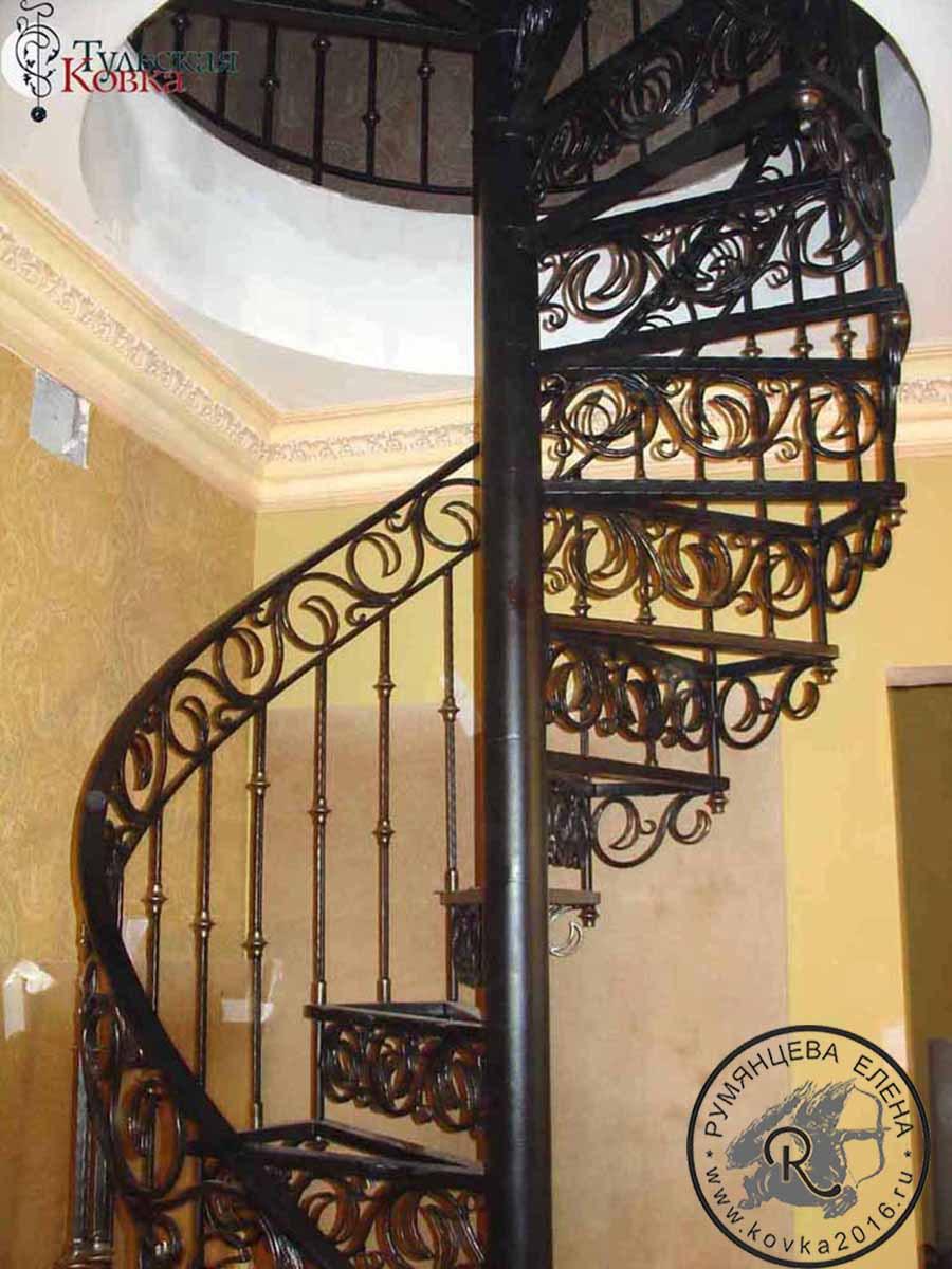 Кованая лестница своими руками фото